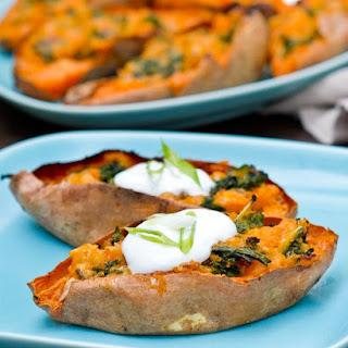 Loaded Sweet Potato Skins with Kale