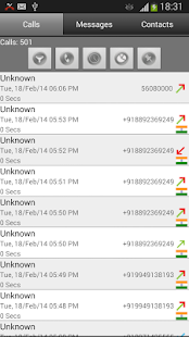 Call Log Search Filter GlogMe - screenshot thumbnail