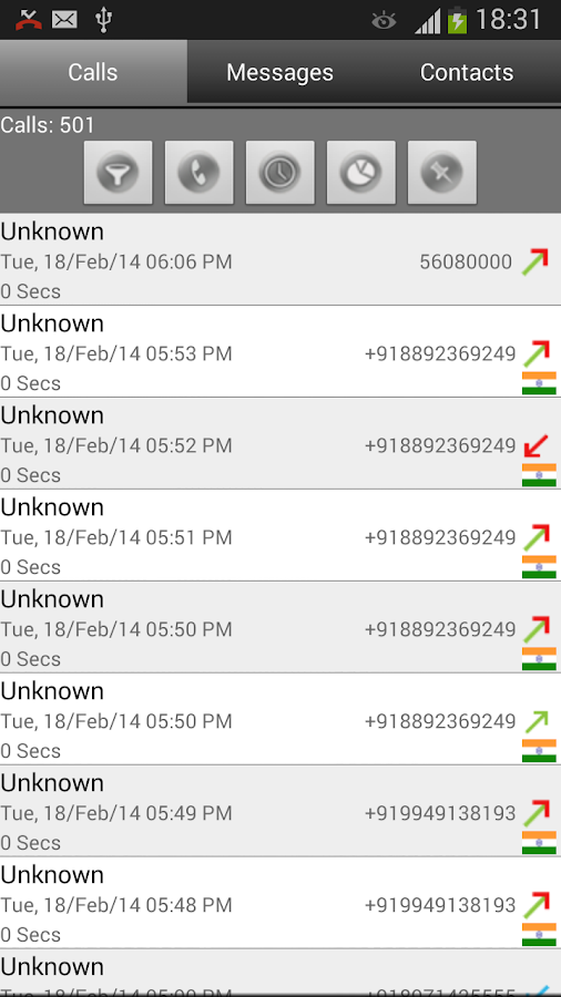Call Log Search Filter GlogMe- screenshot