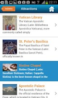 Screenshot of Vatican Guide, Map, Hotels