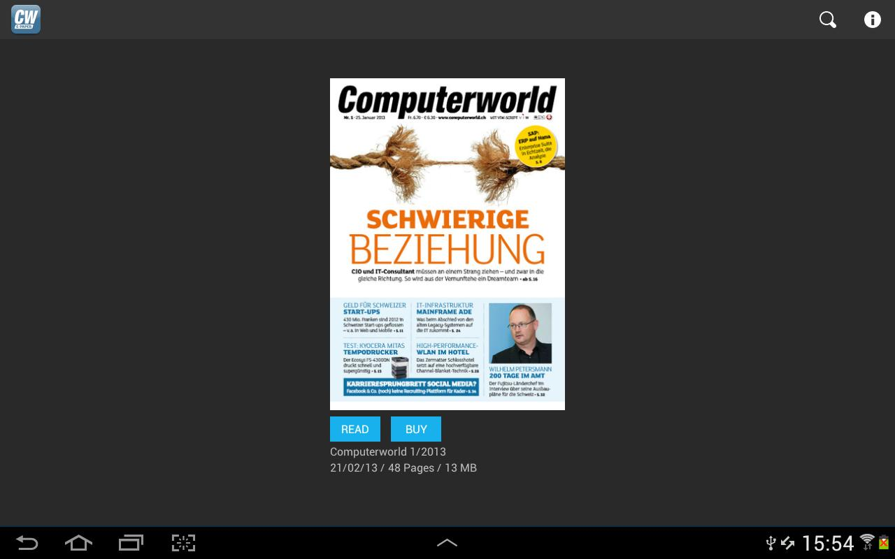 Computerworld Schweiz- screenshot