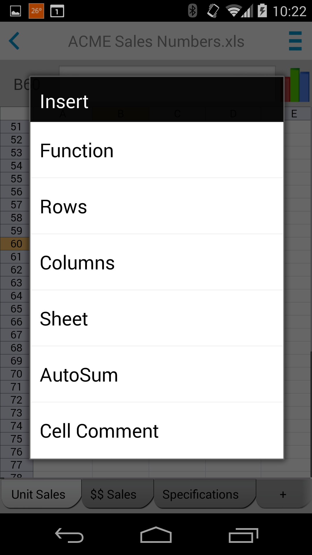 Docs To Go™ Free Office Suite screenshot #6
