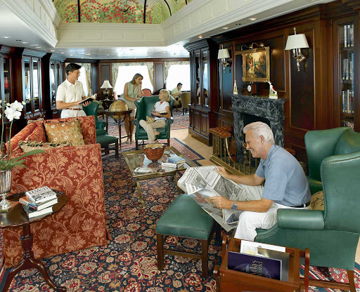 Oceania-Library - During your cruise on Oceania Insignia, kick back and catch up on your reading in the ship's Library.