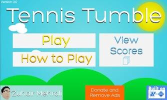 Screenshot of Tennis Tumble Donate