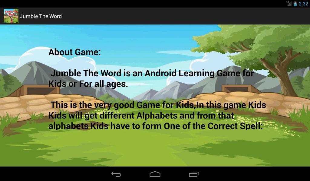 Jumbled Words Jumble The Word Screenshot
