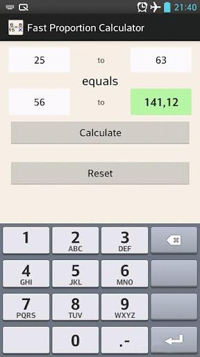 Fast Proportion Calculator
