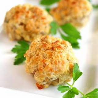 Parmesan and Parsley Sausage Ball Appetizer.