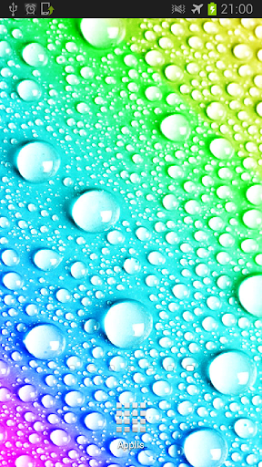 Pop Water Drops Parallax LWP