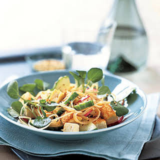 Cucumber-and-Radish Stir-Fry with Rice Noodles.