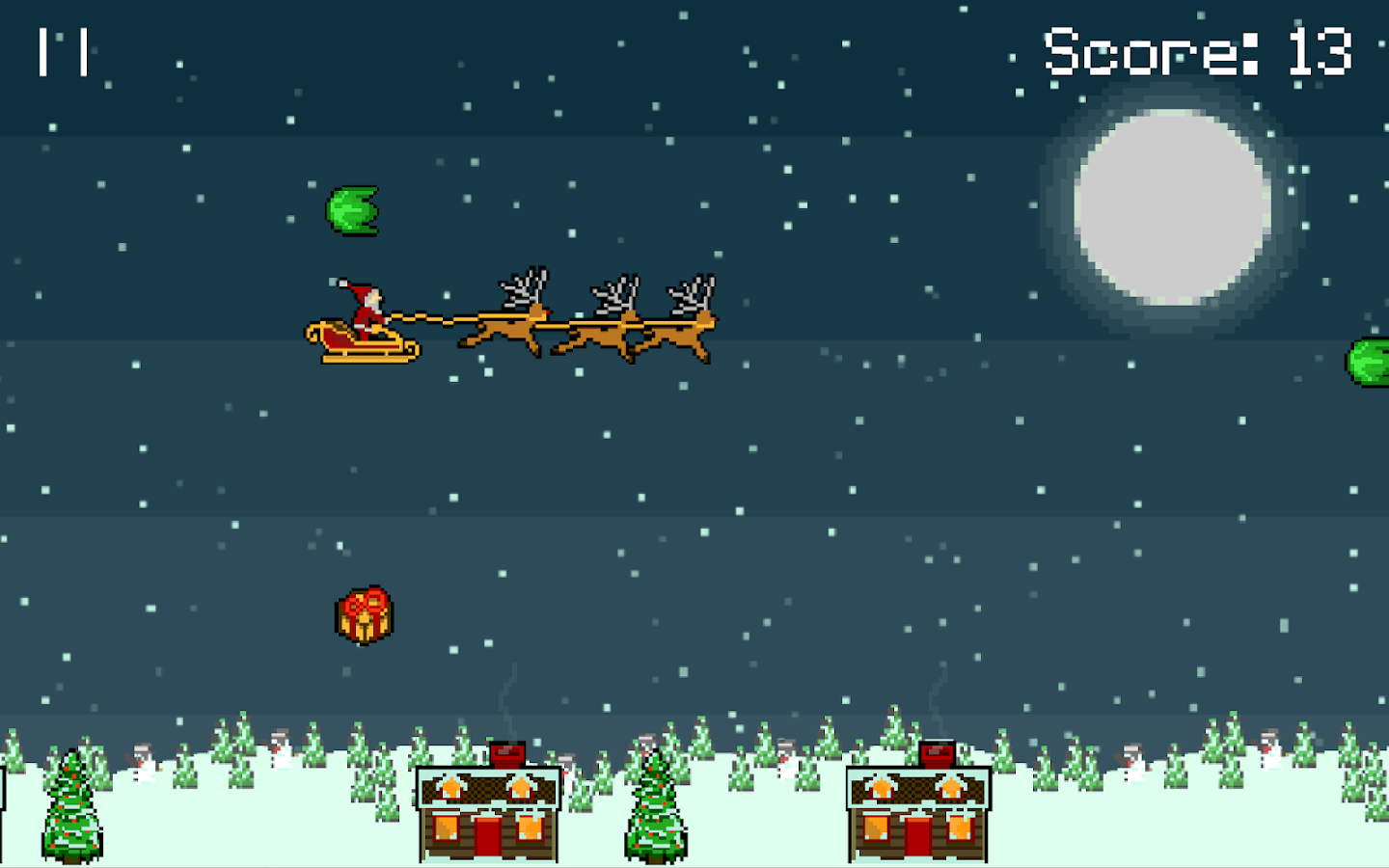 Droppin' Santa retro Xmas game- screenshot