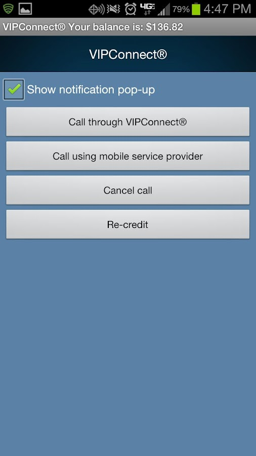 VIPConnect - screenshot