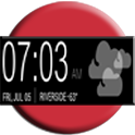 UCCW skin - black sense clock icon