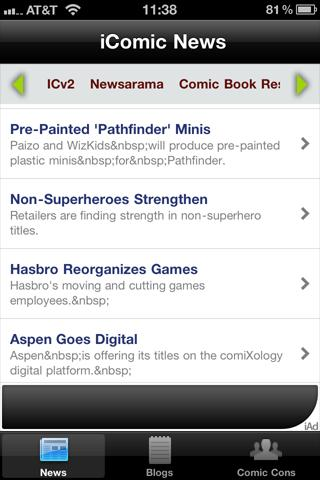 Comic Book News- screenshot