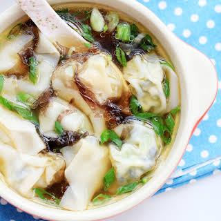 Vegetarian Wonton Soup.