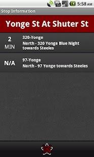 Toronto Transit Tracker - screenshot thumbnail