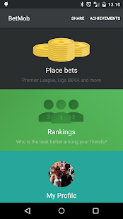 Soccer betting with BetMob- screenshot thumbnail