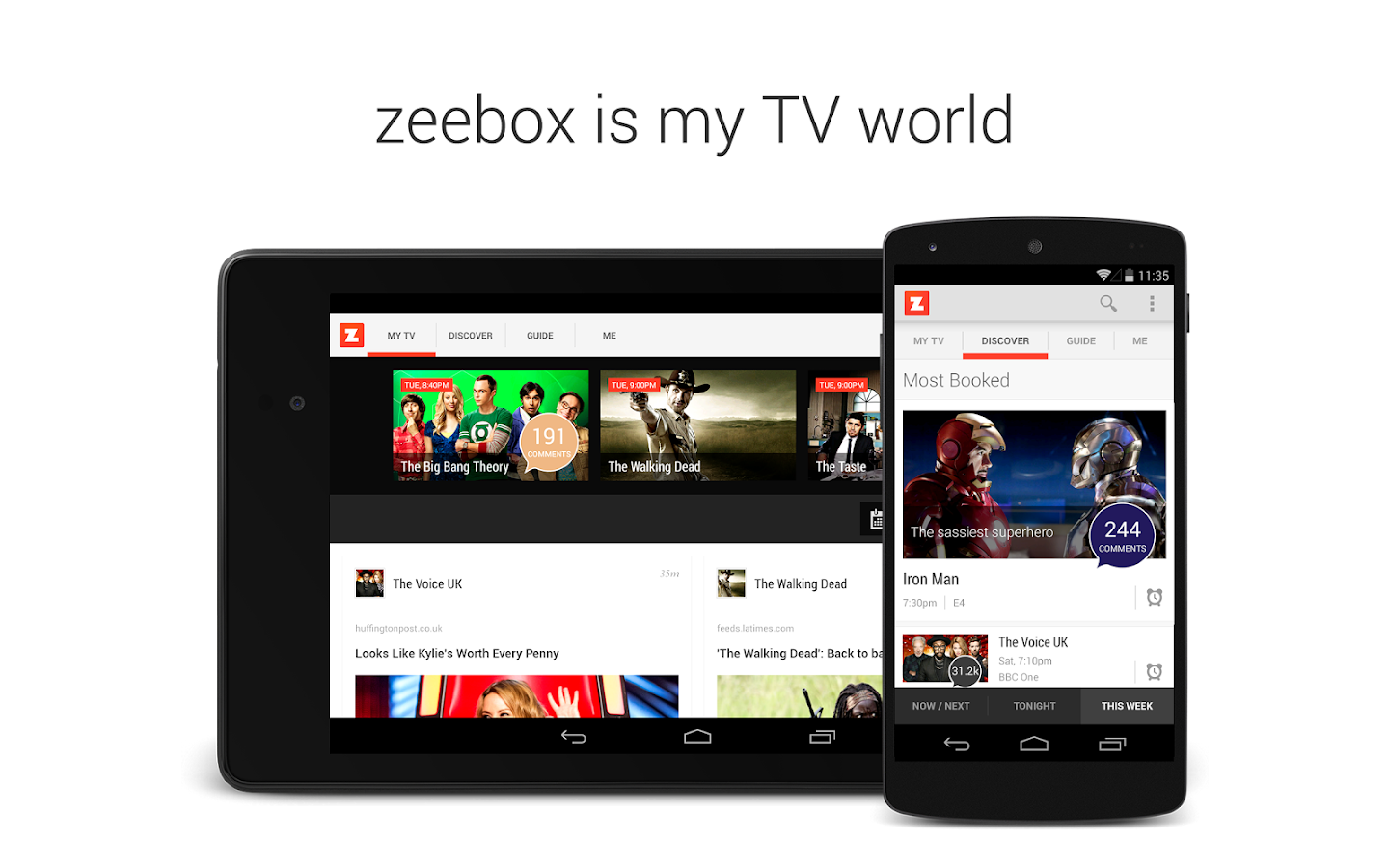 zeebox. My TV World - screenshot