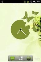 Screenshot of Butterfly Clock