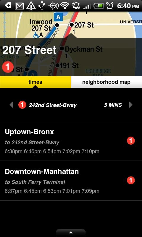 NYCMate (NYC Bus & Subway) - screenshot