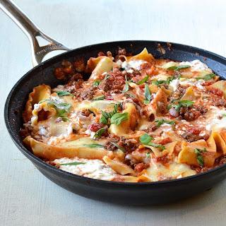 Healthy Skillet Lasagna.
