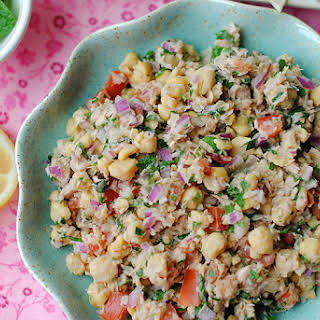 Lemony Chickpea and Tuna Salad.