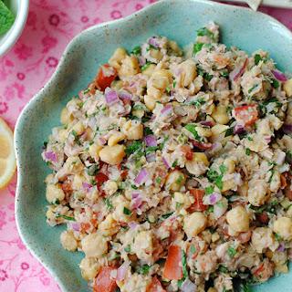 Lemony Chickpea and Tuna Salad.