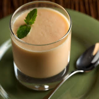Chilled Ginger Cantaloupe Soup.