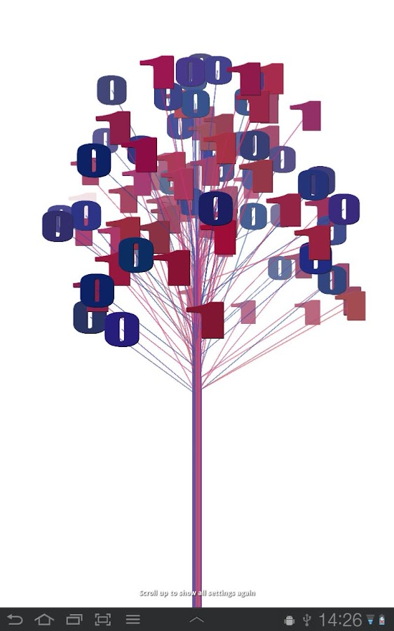 Binary Tree Live Wallpaper - screenshot