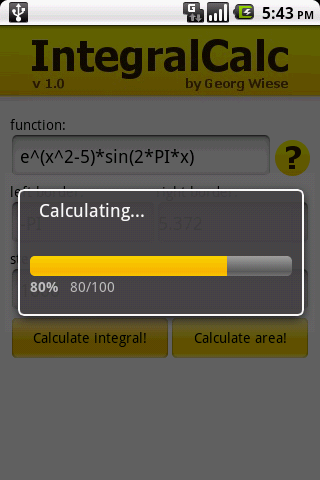 IntegralCalc- screenshot