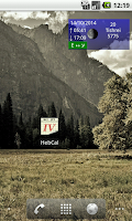 Screenshot of HebCal & Widget