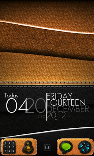 FREE Leather GO Theme