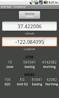 Screenshot of Grid Nav MGRS Utility