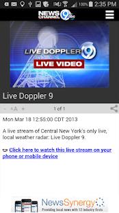 NewsChannel 9 WSYR Syracuse- screenshot thumbnail