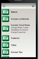 Screenshot of Europe Travel Network