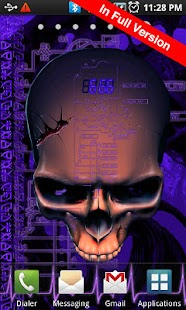 Biomechanical Skull Free LWP - screenshot thumbnail
