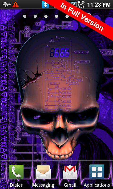 Biomechanical Skull Free LWP - screenshot