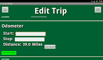Screenshot of Track My Mileage
