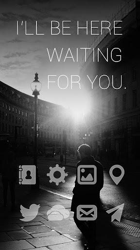 Waiting For U Launcher Theme