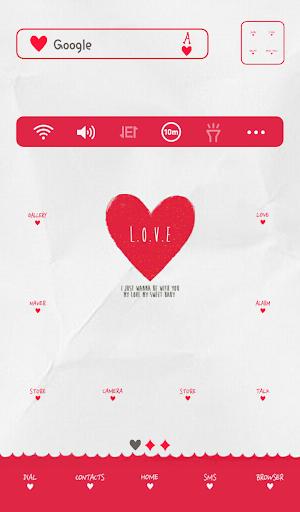 heart card 도돌런처 테마