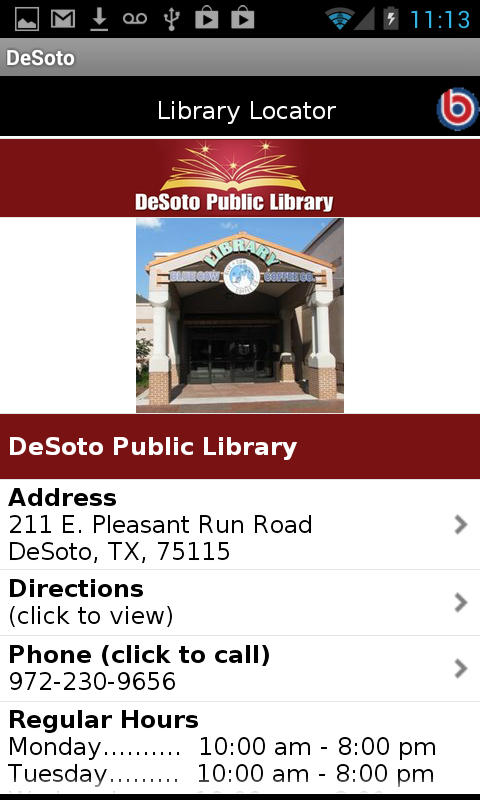 DeSoto Texas Public Library - screenshot