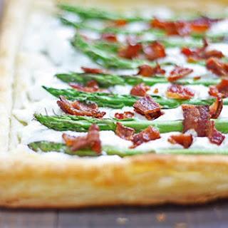 Asparagus, Goat Cheese & Bacon Tart