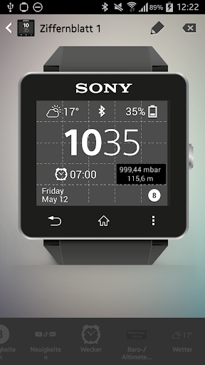 Barometer Widget for Sony SW2