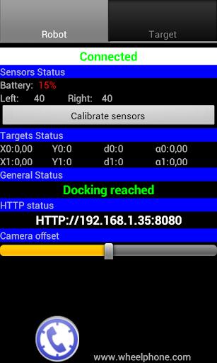 Wheelphone target docking