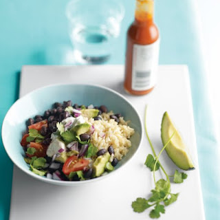 Brown Rice and Black Beans.