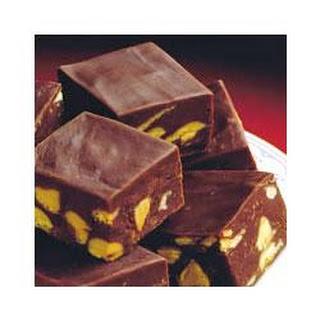 Chocolate Peanut Butter Chip Fudge.