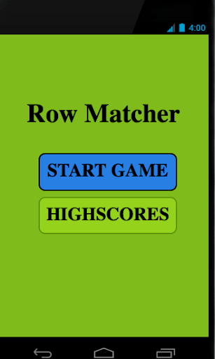 Row Matcher Game
