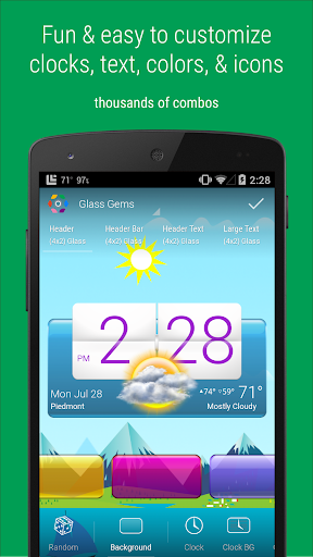 HD Widgets app for Android screenshot