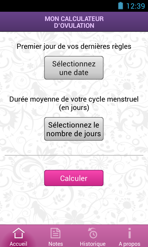mon calculateur d ovulation applications android sur google play. Black Bedroom Furniture Sets. Home Design Ideas