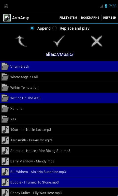 ArmAmp Music Player- screenshot