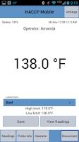 Screenshot of HACCP Mobile